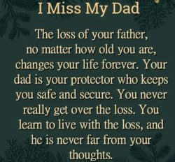 The Loss Of Your Father