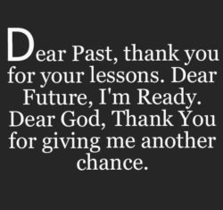 Dear Past Thank You...