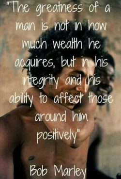 The Greatness Of A Man...