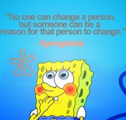 No One Can Change...